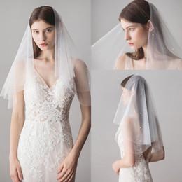 New Two Layers Handmade Flowers Bridal Veils Ivory White Short Romantic Applique Wedding Veils Bride Accessories