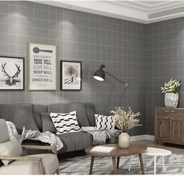 New Modern Minimalist Black White Plaid Wallpaper Nordic Style Living Room Background Wall Clothing Store Wallpaper Waterproof