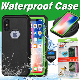 Waterproof Case Hybrid Rubber Armor Shockproof With Screen Protector Support Wireless Charging Cover For iPhone X 8 Plus 7 6 6S Samsung S8