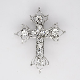 12pcs lot Wholesale Marquise Crystal Rhinestone Cross Brooches Fashion Costume Pin Brooch & Pendant C379