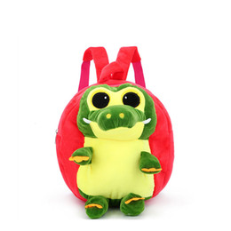 3D Dinosaur Plush Children Backpacks Cartoon Girl Boys Kindergarten Schoolbag Kids Backpack Children School Bags DropShipping