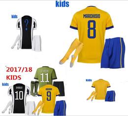 17 18 kiDS jersey shirt MARCHISIO DYBALA HIGUAIN BONUCCI 2018 youth Football soccer uniform Maglia m tzen l mpada polyester How to buy