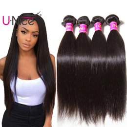 UNice Hair Malaysian Straight Hair 3 Bundles 8-30inch 100% Human Hair Weave Bundles Virgin Human Extensions Wholesale Bundles Cheap Bulk