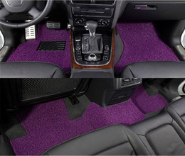 Red Black Purple Brown Spinning Mats Free Cut The Car Carpet Mats Spinning Three-Piece 52-1A 1192 Material PVC Wire Loop Best Quality