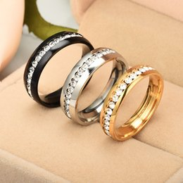Stainless steel Ring With Side Stones Opening Adjustable Ring For Men And Women Mumo Store Hot Sale