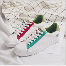 new spring summer and autumn woman causal student running Skateboard shoes lace up Microfiber Leather shoes US SIZE 4.5-8 8072