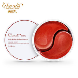 Daralis High Quality Red Ginseng Extract Collagen Eyes Mask Skin Care Nourishing Eyes Patch for Women Remove Dark Circle 60pcs