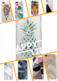 For Iphone 8plus 7plus 8 7 6 6sPlus Samsung Huawei Marble Painted Phone case For iphone X Case Hard Glossy IMD Back Cover