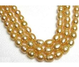 11-13MM SOUTH SEA GOLD BAROQUE PEARL NECKLACE 38 INCH 14K GOLD CLASP