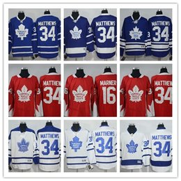 2018 Maple Leafs #34 Auston Matthews Red Hockey Jerseys #16 Marner Men's Highest Quality Hockey Jerseys New Brand Hockey Uniform