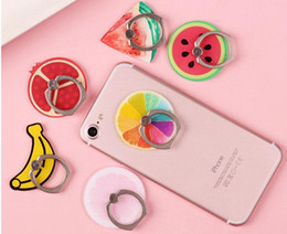 Cartoon Fruit Phone Ring Buckle Bracket Paste Acrylic Ring Buckle Custom Lemon Universal free shipping high quality whoesales OEM 2018 new
