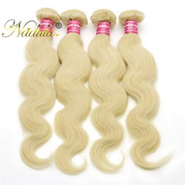 Nadula Bleached 613 Blonde Brazilian Body Wave Hair Bundles 4 Pieces Human Hair Weave 16-24 Inches Virgin Hair Extension Cheap Free Shipping