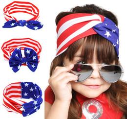 American Flag Headband Baby Turban Stretch Headbands Bandana Hair Accessories Head Wrap Knotted Hair Band KKA3355