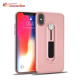 Running The Driverway TPU Kickstand Ultra Thin Holder Case For iPhone X Cover Full Protective Phone Bracket Stand Phone Case