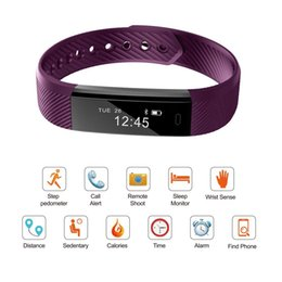 Hot Selling ID115 Smart Bracelet Heart Rate Monitor Pedometer Band Bluetooth Fitness Activity Sports Tracker Wristband For Phone