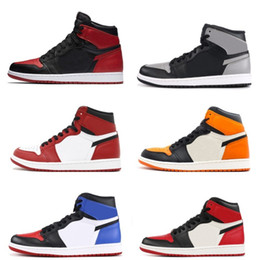 With OG Box 1s classic 1 Basketball Shoes top 3 gold shadow Chicago bred royal shattered backboard bred black toe women men sneakers