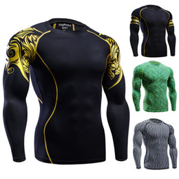 New 2018 Hot sales High Quality Brand Men's Sports Shirts Tennis badminton Jersey Running Shirts compression shirt CrossFit tigh