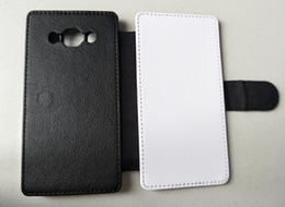 Flip leather case for samsung J5 2016   J5 2017 J530 sublimation print case blank polyester cloth 100pcs can mix