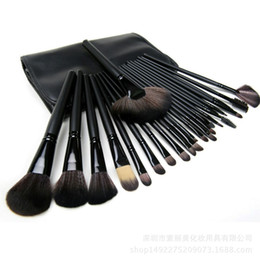 zouyesan Free Shipping 2018 24 black rod make-up brush set professional beauty makeup brush beginner beauty tools