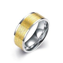 European and American classic fashion popular letters men titanium steel ring
