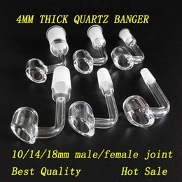 4mm thick Frosted Quartz Banger Club Domeless Honey Bucket Nail 45 90 Degree 10mm 14mm 18mm male female For Glass Bongs