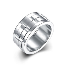 NEW Father's Day Fashion titanium colored steel ring women men unisex best gift coated filled tungsten