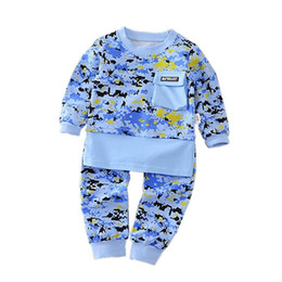 2018 New Spring Autumn Army Camouflage Baby Boy Girl Cotton T-shirt Pants 2PCS Top Newborn Clothing Sets Gift Suits Kids Clothes