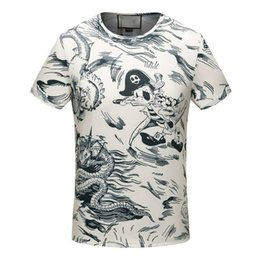 2018 Designer Mens T shirt comfortable fit cotton t-shirt fashion Printed short sleeve Tee Luxury men brand clothing of white SG16537