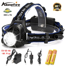 ALONEFIRE HP79 CREE XM-L T6 LED 3800Lumens Rechargeable Zoom led Headlights CREE Headlamps for 2x18650 Battery