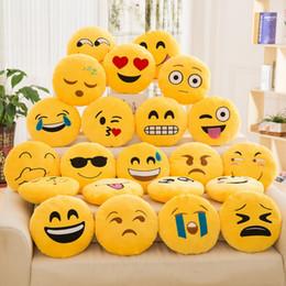 Emoji Stuffed Plush Toy 33CM 13inch Smiley Angry Cry Happy Sad Sleep Cute Poop Mad Guy Devil Emoticon Yellow Round Cushion Soft Pillow