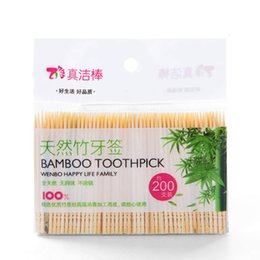 2018 Limited Plastic Toothpicks 200 Pcs Oral Wooden Tandenstokers Dental Natural Bamboo Toothpick for Home Hotel Restaurant Tooth Pick Care