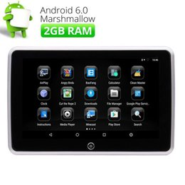 "10.1"" Quad Core Android 6.0 1080P Touch Screen Car DVD Headrest Monitor HDMI USB SD FM Support Video WIFI Rear-Seat Headrest"