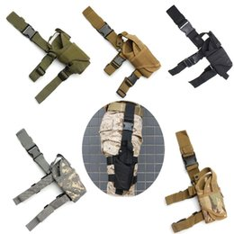 Tactical Combat Airsoft Paintball Survival War game Cosplay Nylon Constructed Holster Holder Pouch Right Drop Leg Adjustable