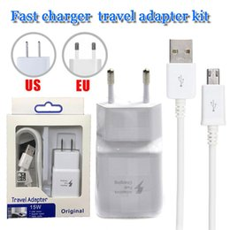 2 in 1 note 4 fast charger kit s6 s7 travel wall charger 9v1.67A 1.5M fast usb charger power dock travel adapter kit for samsung s9 plus