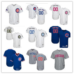 custom Men's Women Youth Majestic Cubs Jersey #00 your Name and number Home Blue Gery white Champions Kids Girls Baseball Jerseys