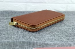 Hot! wholesale 2018 famous brand fashion single zipper cheap luxury designer women pu leather wallet lady ladies long purse