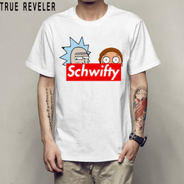 2018 Arrival Summer Men T-Shirt Rick And Morty Schwifty letter T Shirt 100%Cotton Short Sleeve Clothes Tops Tee