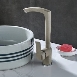 Bathroom Basin Sink Faucet with Single Handle Single Hole Deck Mounted Beige Dots Tall Hot Cold Water Mixer Tap