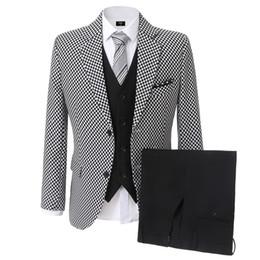 Men's suit, groom, collar, best man, men's suit, wedding dress, business casual Banquet (jacket + trousers + vest)