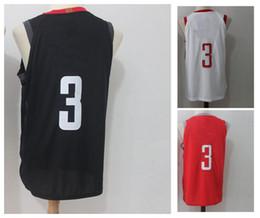 #3 Men's Basketball Jerseys 2018 New season Fashion Player version Mens polo shirt white black red Men Sport Jersey