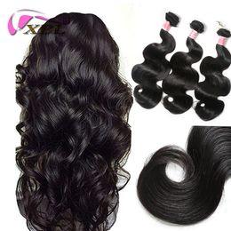 xblhair crochet hair extensions virgin body wave human hair bundles within 3 bundles free shipping sale