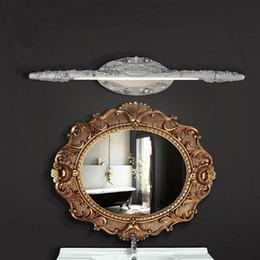 110V 220V 240V 7w 9W 10w L50cm L60cm L66cm Vintage White Silver Resin LED mirror light bathroom cabinet dressing table lamps
