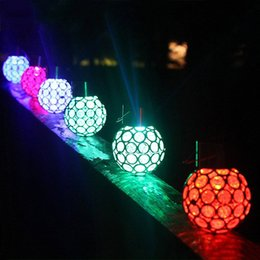 LED Solar Ball Lawn Light Garden Hang Outdoor Waterproof Courtyard Lamp Color Change LED Landscape Pathway Garden Walkway Decorate Lights
