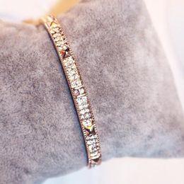 2016 New European Zircon Bangles for Women Fashion rivet Charms Bracelets Fine Jewelry Party Accessories