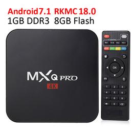 Hot Mxq Pro Amlogic S905w Allwinner H3 RK3329 Quad Core Android 7.1 Tv Box 4k Media Player TV set top box