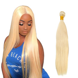 Peruvian Virgin Human Hair Extensions #613 Blond Hair Bundles Double Weft Straight Weaves 3pcs lot Bellahair Top Grade Bellahair