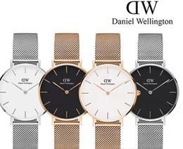 Nueva marca de relojes para hombres y mujeres parejas 32 mm 36 mm y 40 mm pulsera de acero inoxidable marca de lujo Rose Gold Quartz reloj de moda
