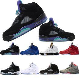 Grapes Wholesale 5s New International Flight Olympic Basketball Shoes 5s Black Grape white Oreo Camo Grey Fashion designer Shoes Sneakers