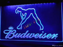 LE133-b Budweiser Exotic Dancer Stripper Bar Light Sign home decor shop crafts led sign