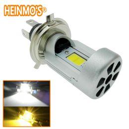New H4 HS1 Hi Lo LED Motorcycle Headlight 2000LM 40W 6000K Bulbs Headlamp High Low Motos Super White Motorcycle Lamp,motorcycle headlight